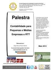 Palestra Contabilidade para Pequenas e Médias Empresas ... - Crc SP