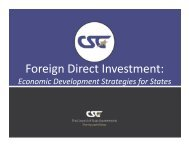 Foreign Direct Investment: - CSG Knowledge Center
