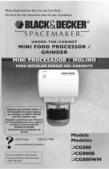 Models Modelos CG800 CG800B CG800WM MINI FOOD ...