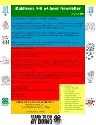 Middlesex 4-H e-Clover Newsletter - 4-H Ontario