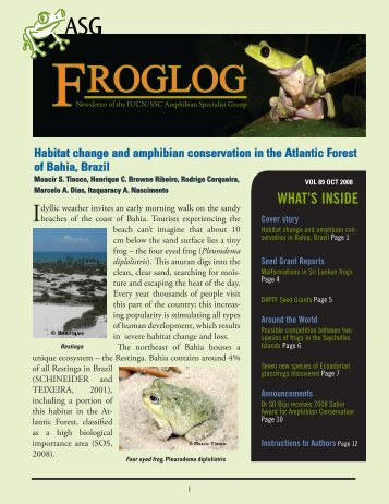 download the FrogLog 89 - Amphibian Specialist Group