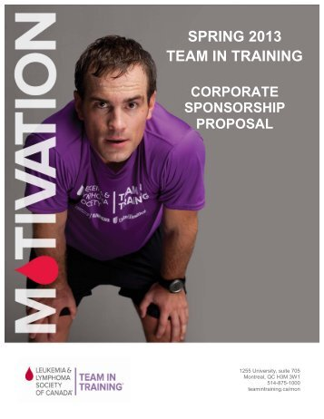Corporate Sponsorship forms - Team In Training