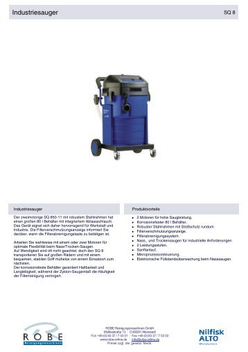 Industriesauger - Robe Reinigungsmaschinen GmbH
