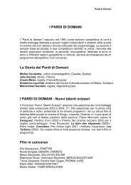 I PARDI DI DOMANI - Festival del film Locarno