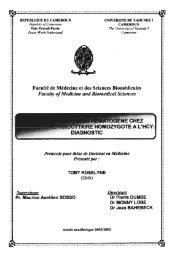Faculté de Médecine et des Sciences Biomédicales Faculty ...