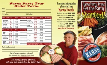 Party Tray - Karns Quality Foods