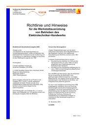 Richtlinie und Hinweise - innung für elektrotechnik bonn · rhein-sieg