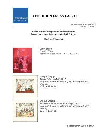 EXHIBITION PRESS PACKET - the Heckscher Museum of Art