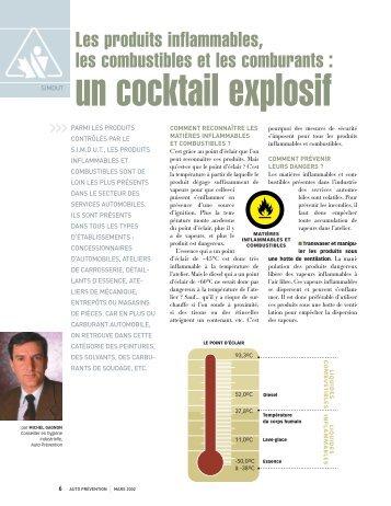 Les produits inflammables, les combustibles et les ... - Auto Prévention