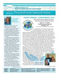 winter 2013 pnn - American Society of Group Psychotherapy and ...