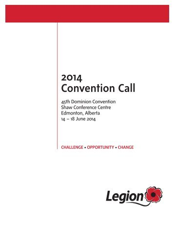 2014 Convention Call - The Royal Canadian Legion