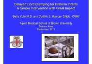 Delayed Cord Clamping for Preterm Infants A Simple Intervention ...