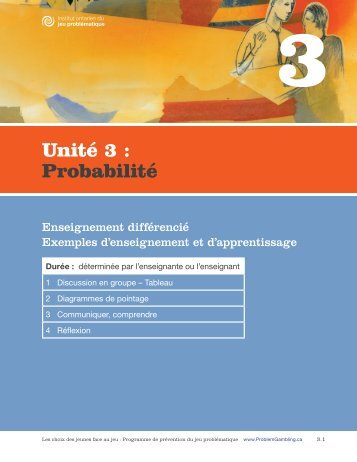 Unité 3 : Probabilité - ProblemGambling.ca