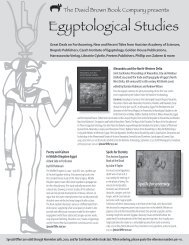 Egyptological Studies - Oxbow Books