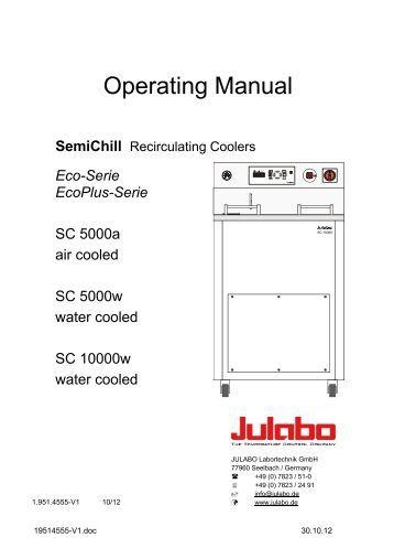 Operating Manual - Julabo