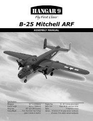 ASSEMBLY MANUAL B-25 Mitchell ARF - RC DEPOT