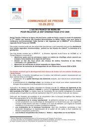 COMMUNIQUÉ DE PRESSE - Ademe Ile de France