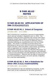 9 FAM 40.63 Misrepresentation; Falsely Claiming Citizenship - Notes
