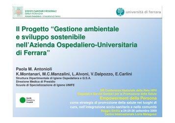 """Il Progetto """"Gestione ambientale e sviluppo sostenibile nell'Azienda ..."""
