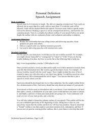 Personal Definition Narrative - Speechsuccess.net