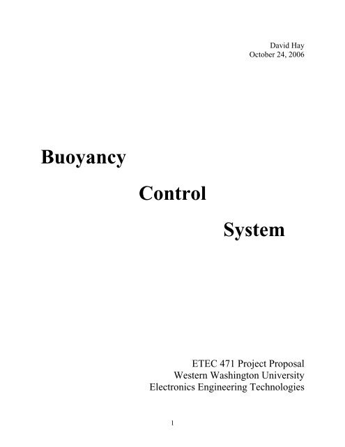 A Project Proposal  (PDF Format) - Electronics Engineering