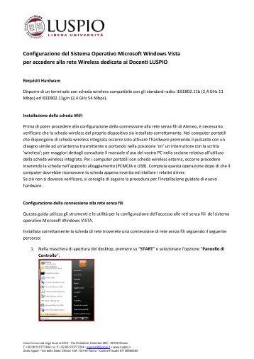 Guida Vista Docenti - degli studi per l'innovazione e le ...