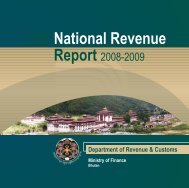 Revenue report (2008-2009) - Ministry of Finance