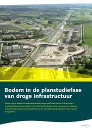 Bodem in de planstudiefase van droge infrastructuur