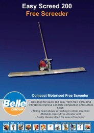 Easy Screed 200.indd - Belle Group