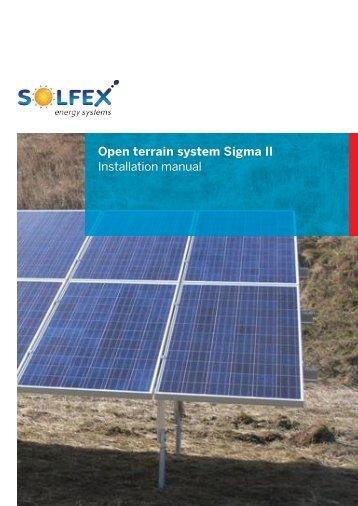 Sigma Il Open terrain system Installation manual - Solfex Ltd