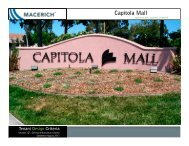 Capitola Mall General information Criteria Manual - Macerich