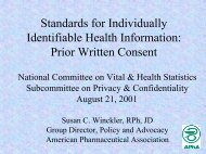 Power Point Presentation - National Committee on Vital and Health ...