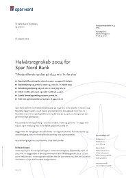 Halvårsregnskab 2004 (PDF) - Spar Nord