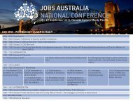 JOBS AUSTRALIA NATIONAL CONFERENCE - The Hotel Network