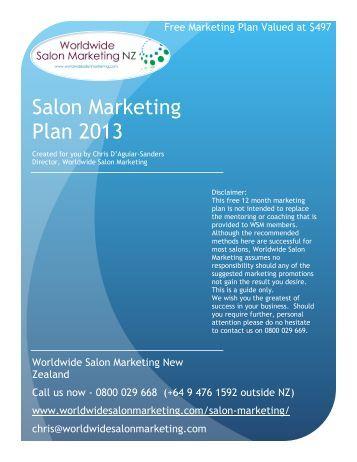 Salon Marketing Plan 2013 - Worldwide Salon Marketing