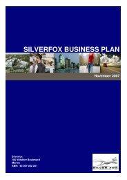 SILVERFOX BUSINESS PLAN November 2007