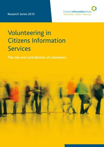 Volunteering in Citizens Information Services (2010)