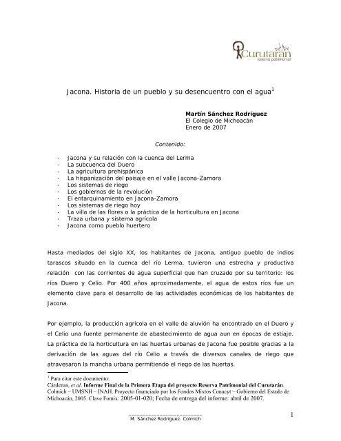 Jacona Historia De Un Pueblo Y Su Desencuentro Con El Agua