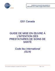 Guide de mise en œuvre du GLN pour les prestataires des ... - Carenet