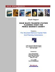 solid waste transfer station planning study for prince george's county