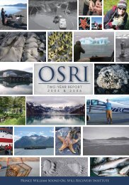 OSRI two-year report 2005-2006 - Oil Spill Recovery Institute