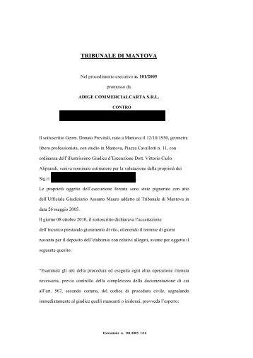 TRIBUNALE DI MANTOVA - Astagiudiziaria