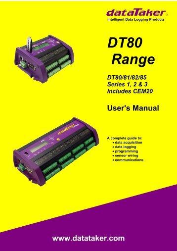 DT80 Range User's Manual - Grant Instruments
