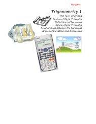 Trigonometry 1 - What Not How