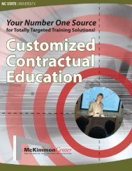 Customized Contractual Education Brochure - McKimmon Center for ...