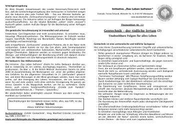 11. Gentechnik II.pdf - Das Leben befreien