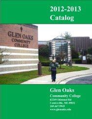 2012-2013 Catalog - Glen Oaks Community College