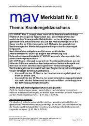 Merkblatt 8 Krankengeldzuschuss - Diakonie im Oldenburger Land