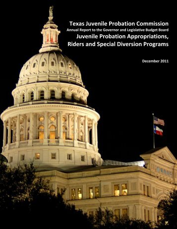 report from the Juvenile Probation Commission - Texas Juvenile ...