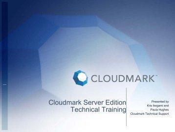 Cloudmark Server Edition Technical Training